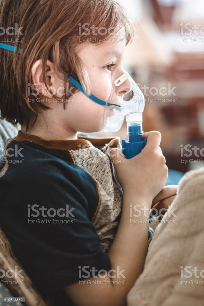 inhaler stock photo