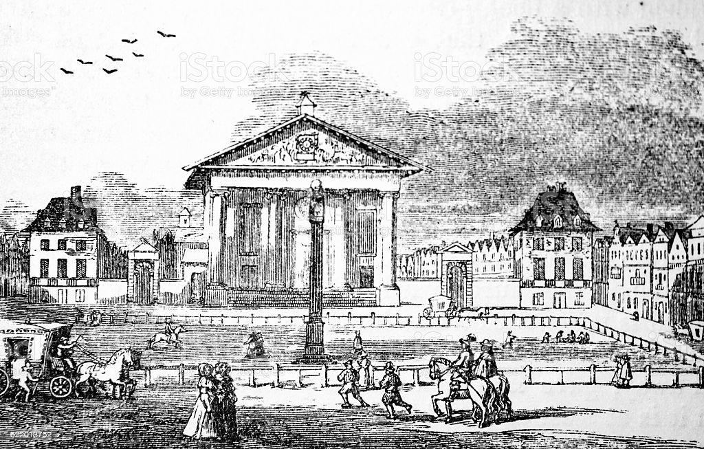 Inigo Jones Church and Old Covent Garden stock photo
