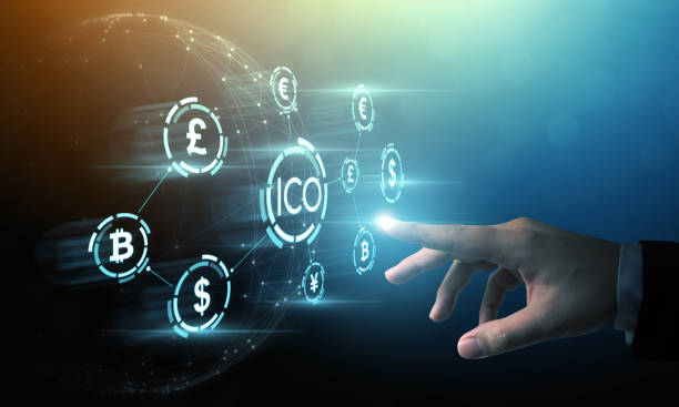 ICO Initial coin offering business financial internet innovation technology concept ICO Initial coin offering business financial internet innovation technology concept initial coin offering stock pictures, royalty-free photos & images