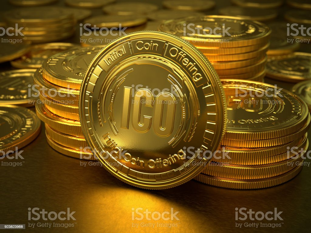 Initial Coin Offering stock photo
