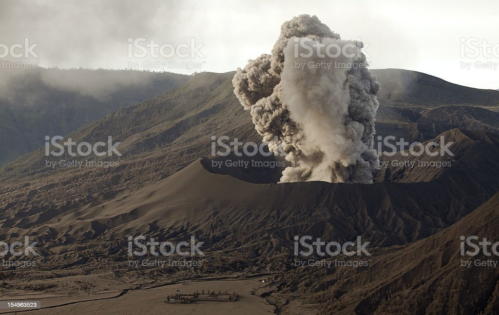 Initial eruption of Volcano. royalty-free stock photo