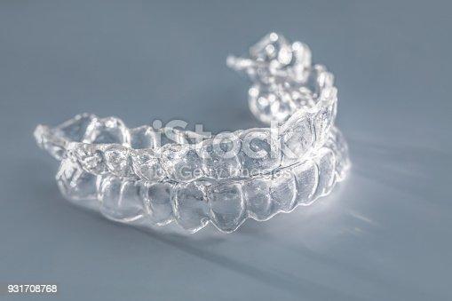 istock Inivisalign braces or invisible orthodontic aligner. 931708768