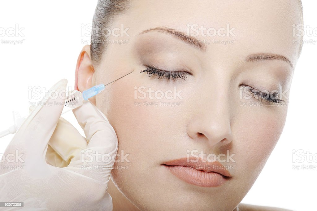 injection in the eye stock photo