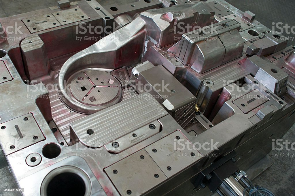injection mould stock photo