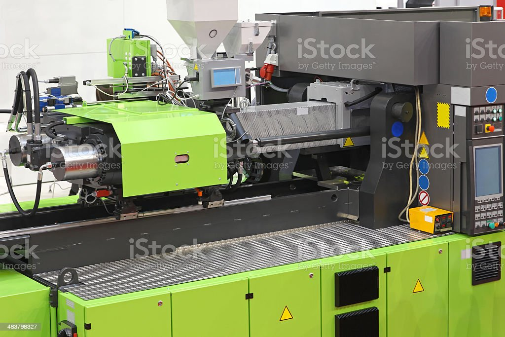 Injection moulding machine stock photo