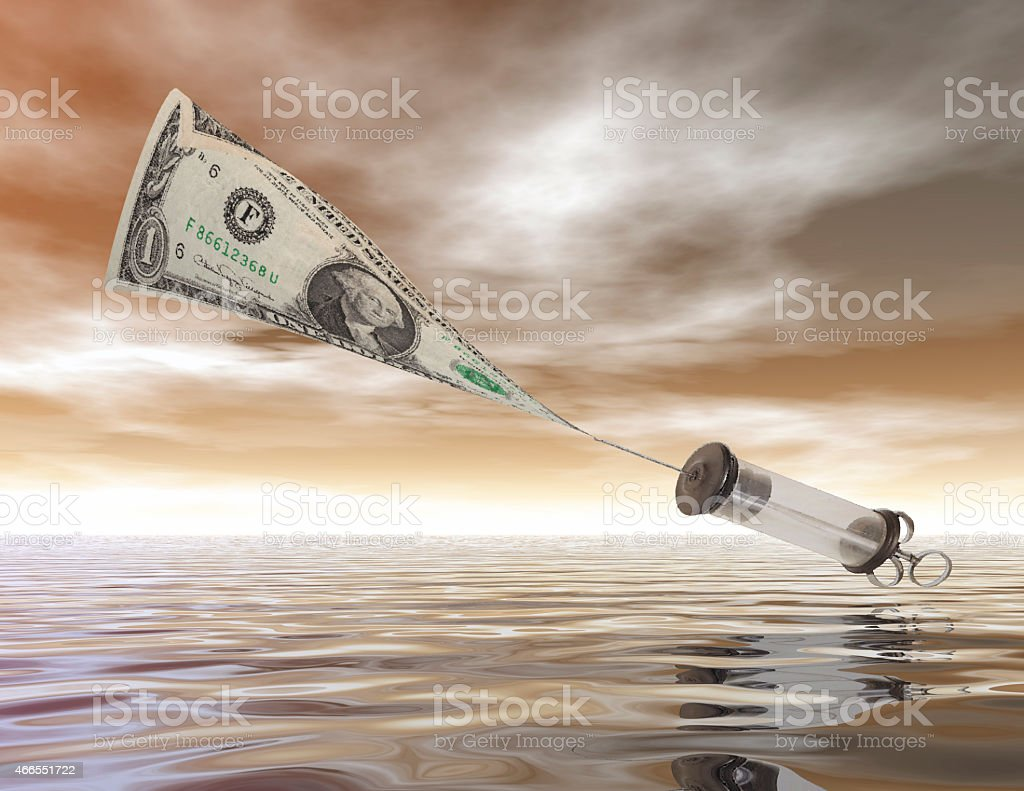 injection of money stock photo