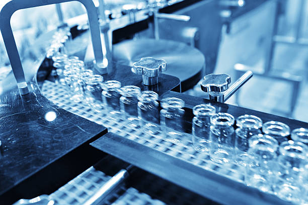 Injection Vial Production Line stock photo