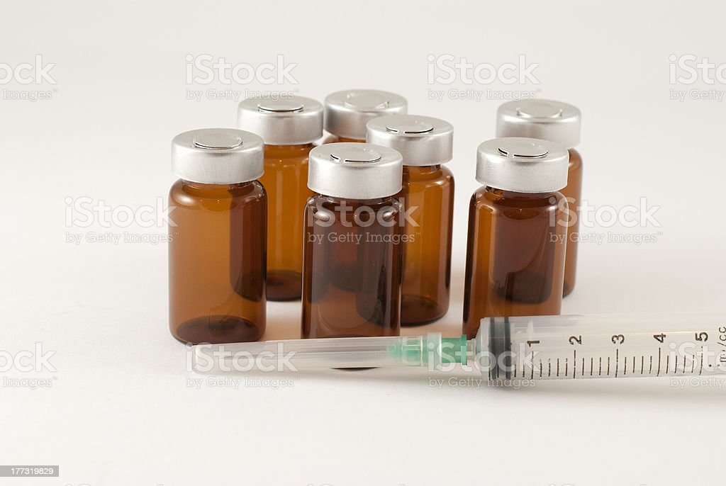 injection vials royalty-free stock photo