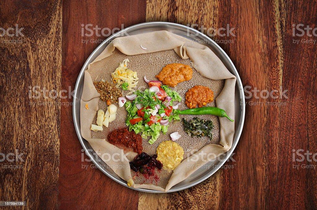 Injera Meal stock photo