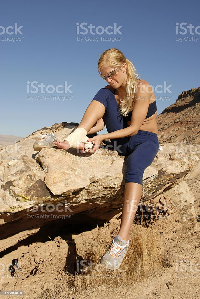 Injured Ankle royalty-free stock photo
