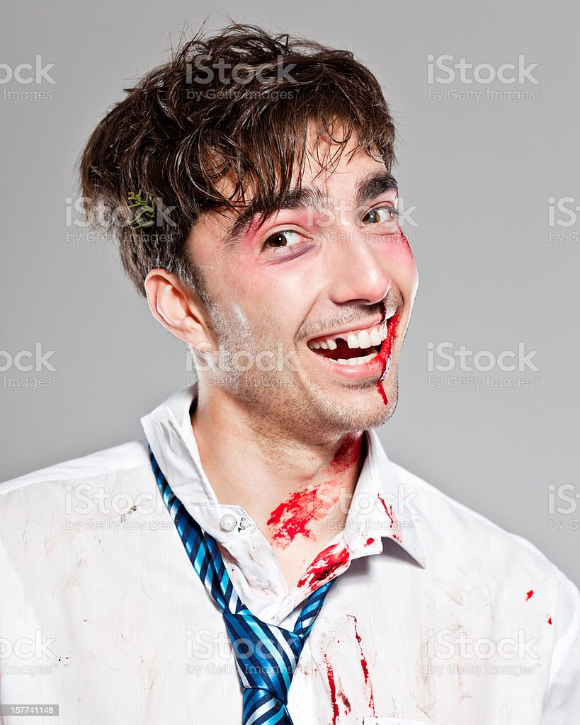 Injured businessman stock photo
