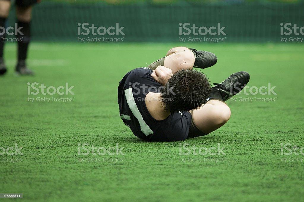 Injured football player stock photo