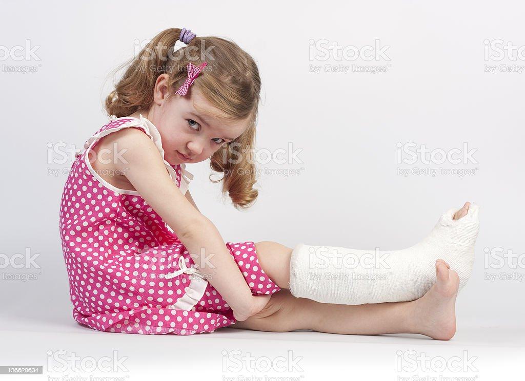 Injured girl stock photo