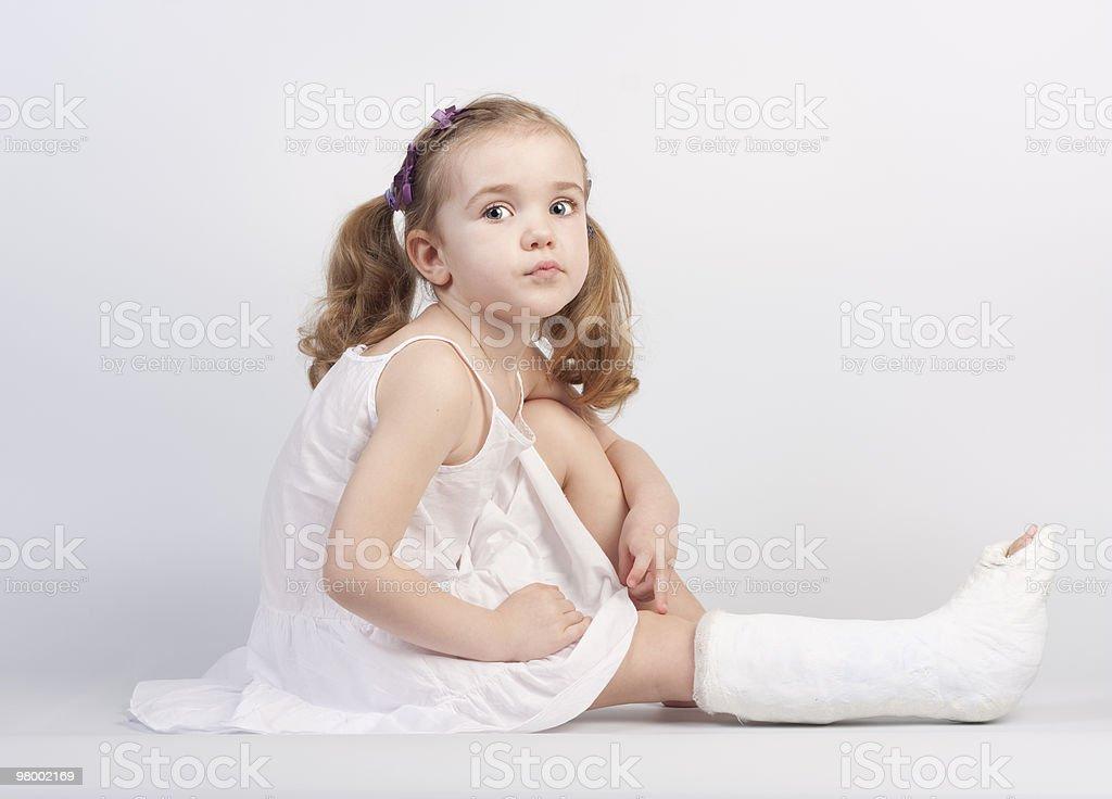 Injured girl royalty free stockfoto