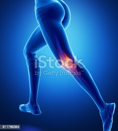 istock Injured knee with highlights 611786364