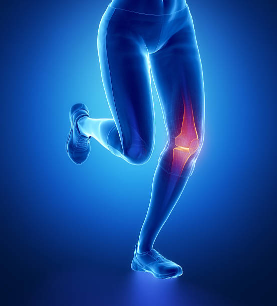 injured knee with highlights - janulla stock pictures, royalty-free photos & images