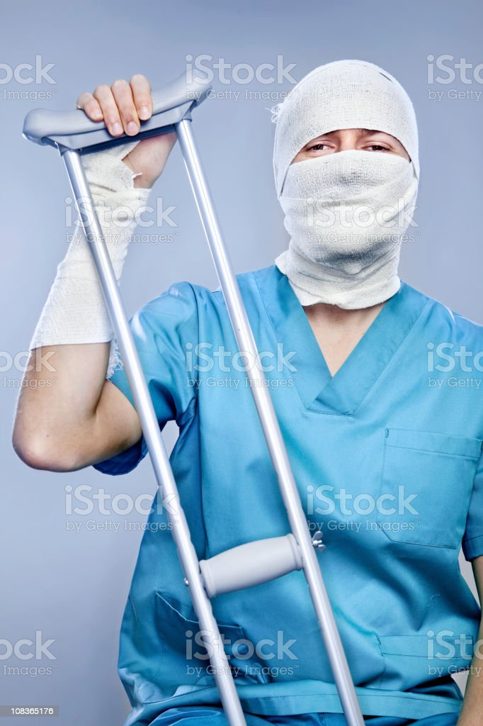 injured man stock photo