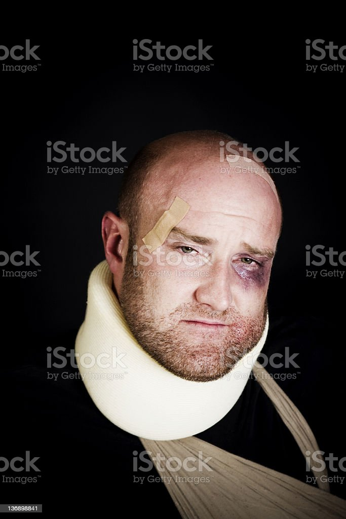 Injured man royalty-free stock photo