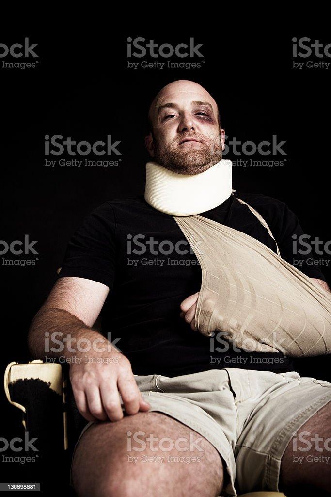 Injured man royalty-free stock photo