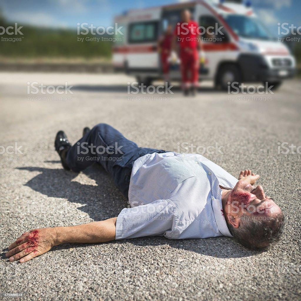 injured man unconscious royalty-free stock photo