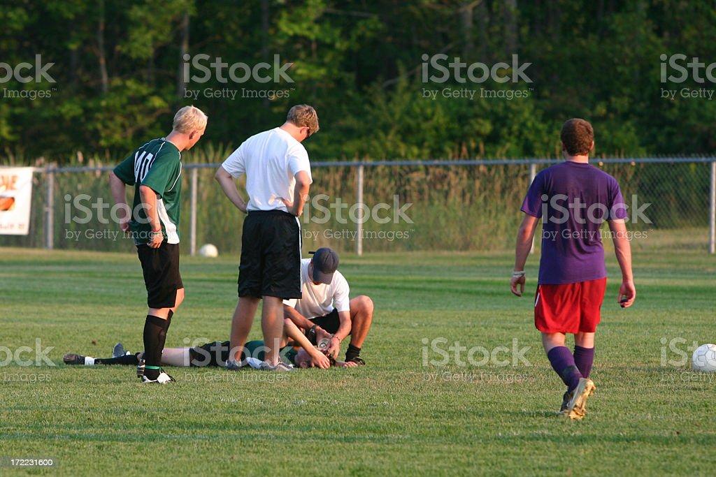 injured player stock photo