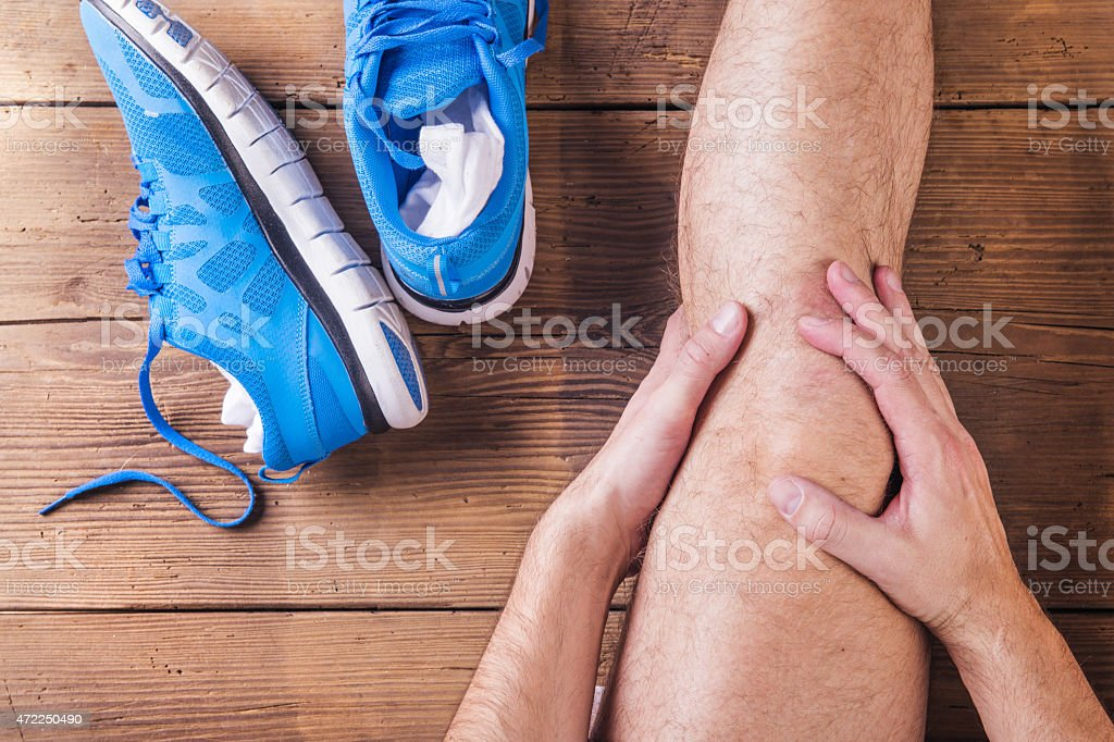 Injured runner stock photo