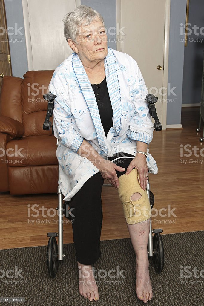 Injured Senior stock photo