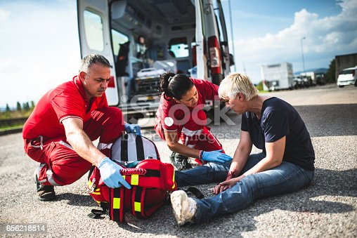 istock injured woman at the edge of the road 656218814
