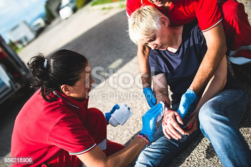 istock injured woman at the edge of the road 656218906