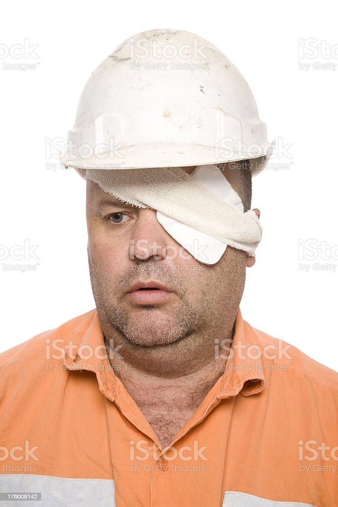 Injured Worker stock photo