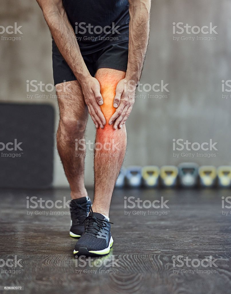 Injuries are just a part of the package stock photo