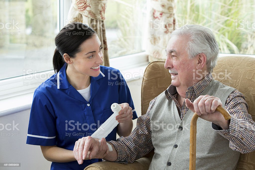 Injury at care Home stock photo