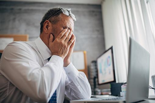 Injury at work, eye fatigue
