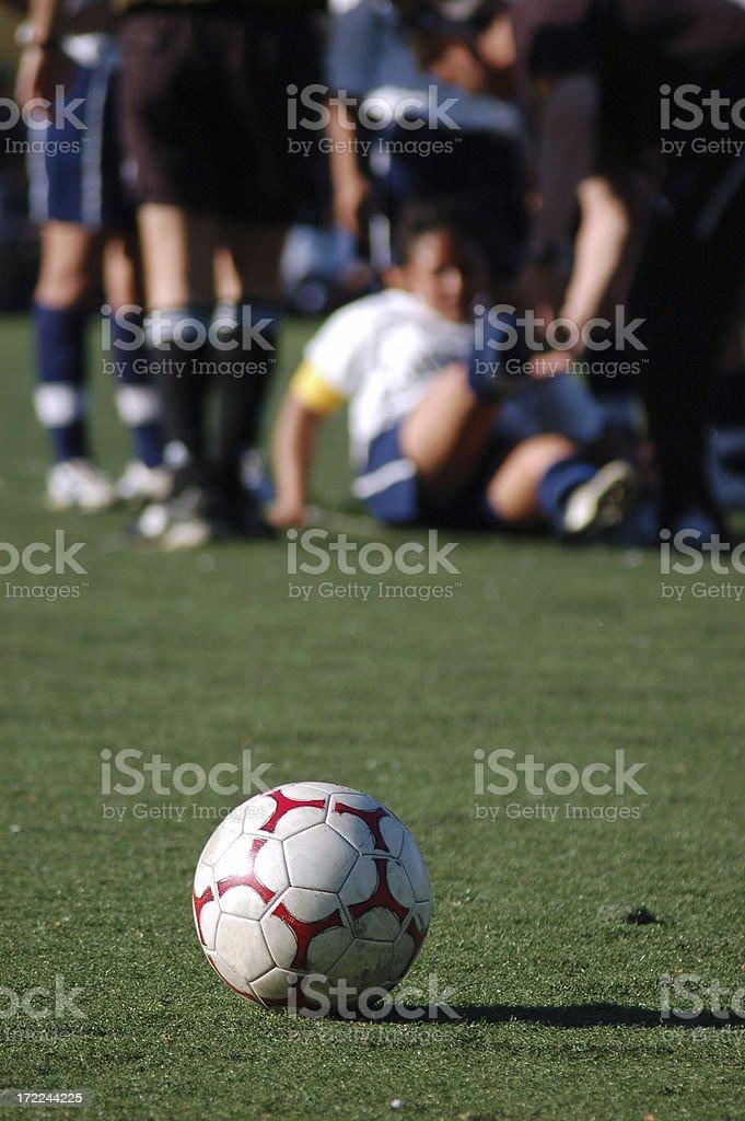 Injury on the field stock photo