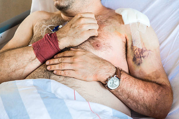 injury patient - shoulder surgery stock photos and pictures