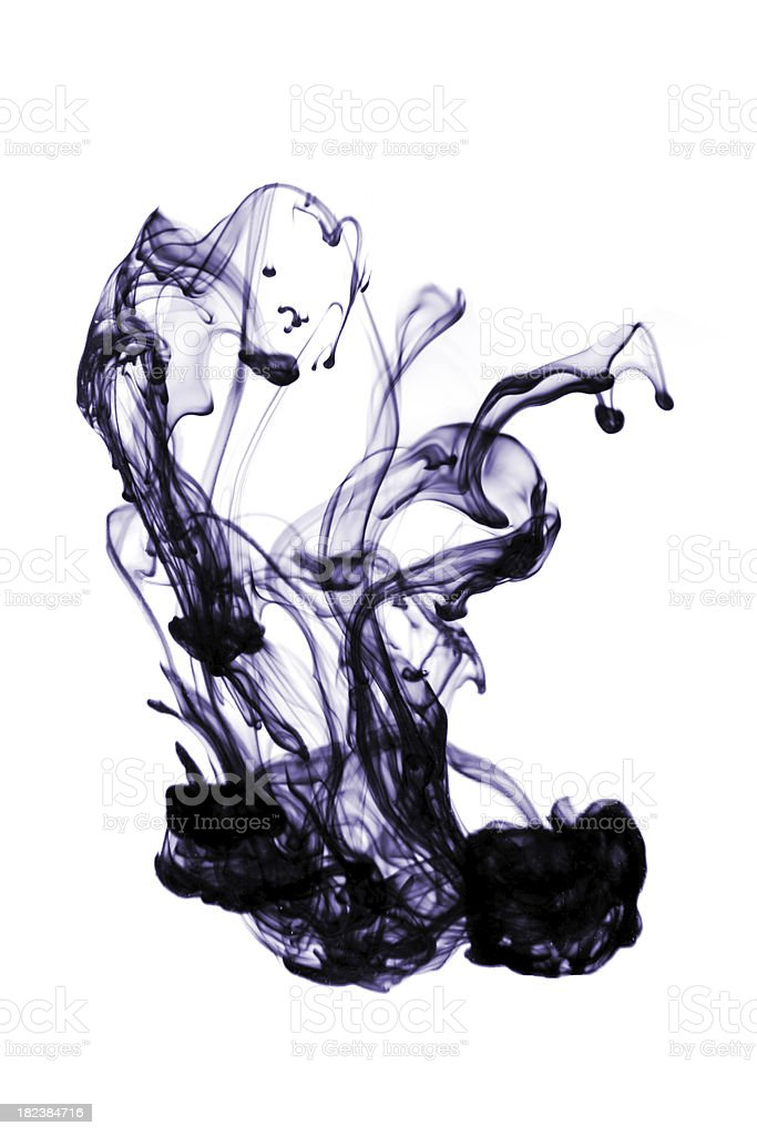 Ink abstract royalty-free stock photo