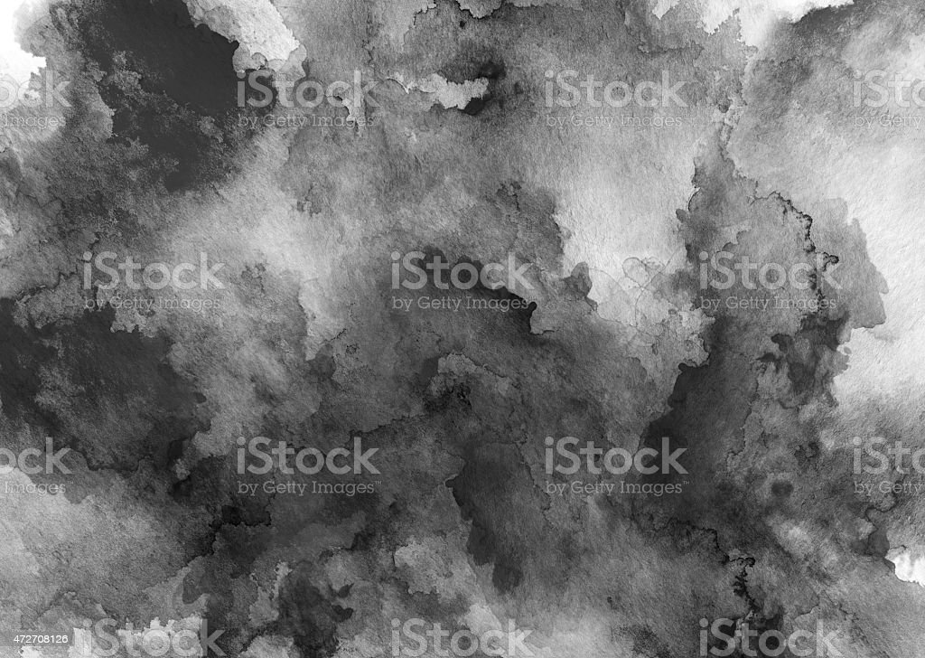 ink black watercolor full background stock photo