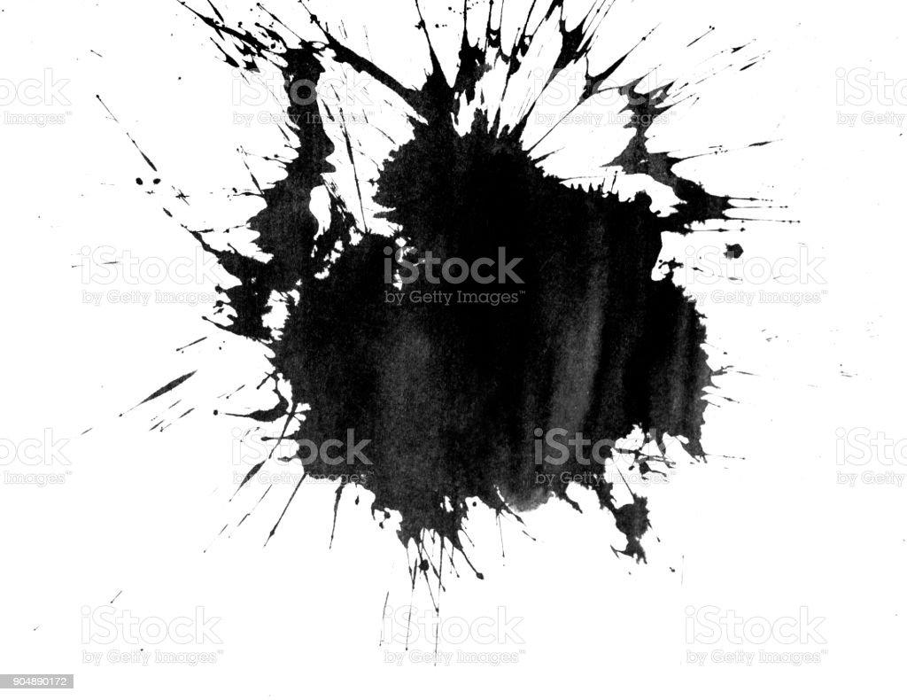 Tinte Fleck auf weiß Lizenzfreies stock-foto