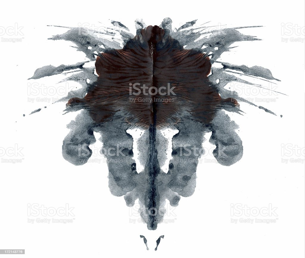 Ink Blot stock photo