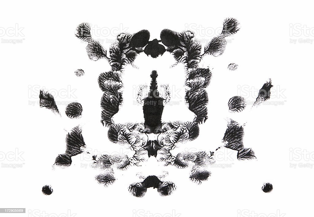 Ink Blot royalty-free stock photo