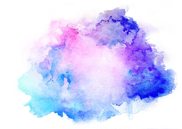 ink blue watercolor background stock photo