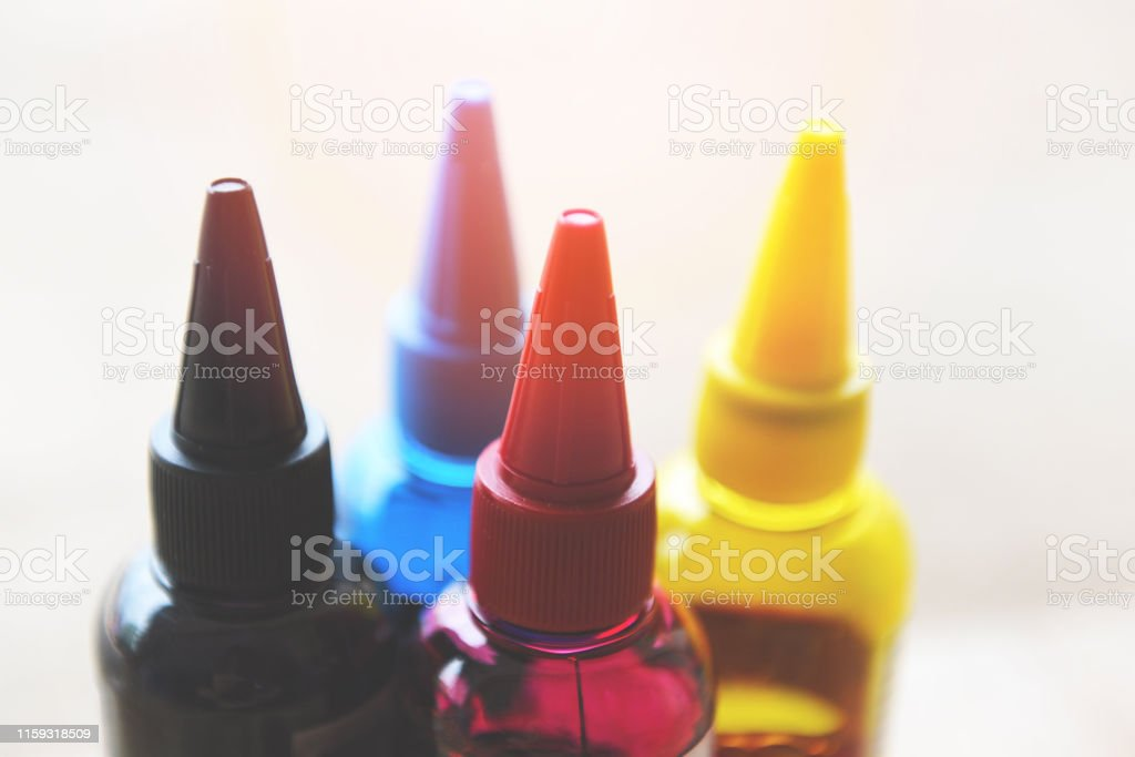 CMYK ink bottle for printer machine / Colorful Ink refill set with...