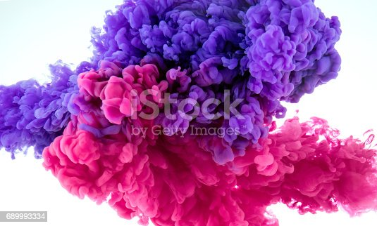 istock ink color splash in water - mix background 689993334