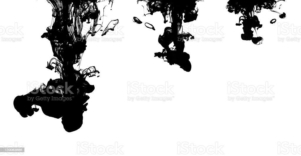 Ink Drops royalty-free stock photo