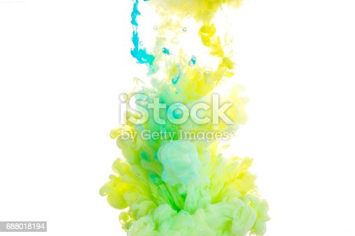 istock Ink in water. abstract background 688018194