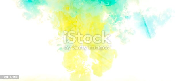istock Ink in water. abstract background 688018306