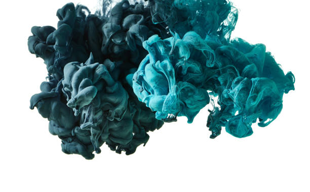 ink in water - encre photos et images de collection