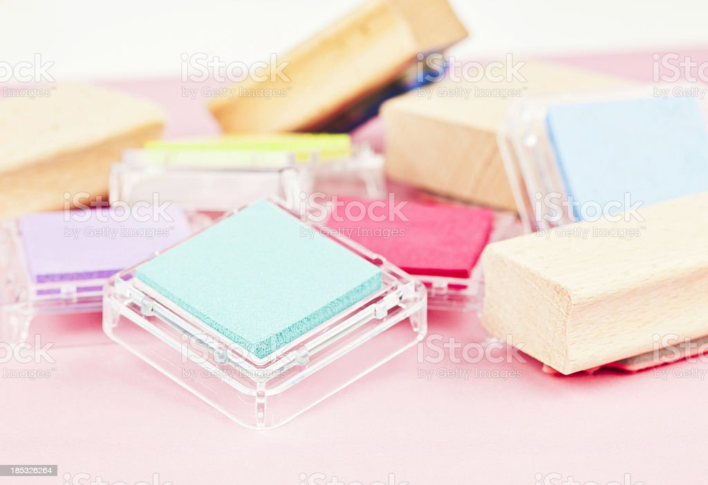 Ink Pads for Rubber Stamps stock photo