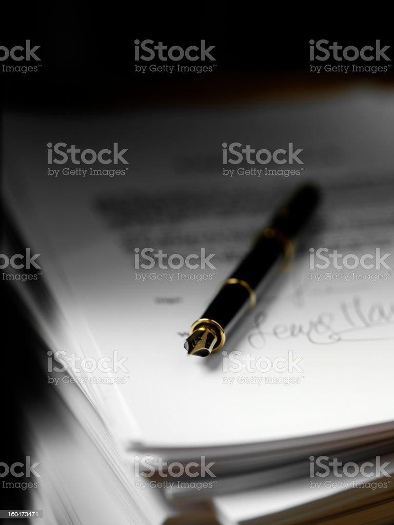 Tinte Stift und Papier Lizenzfreies stock-foto