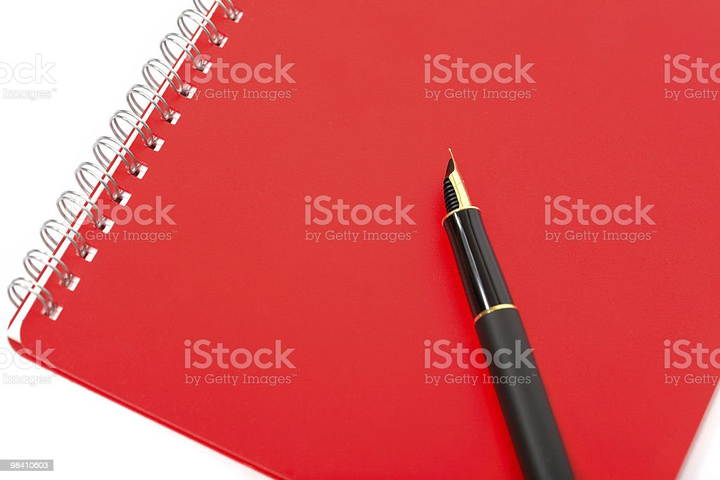 ink pen with notebook royalty-free stock photo